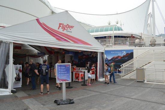 FlyOver Canada: Flyover in Canada Place in Vancouver.