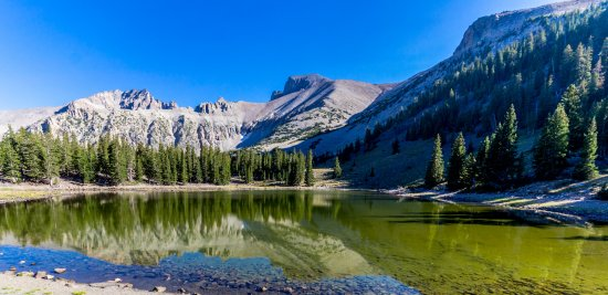 Great Basin National Park, NV: Stella Lake with Wheeler Peak up to the right