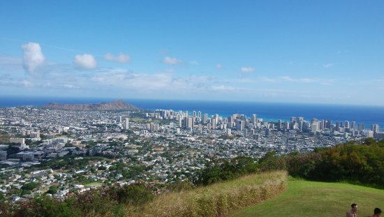 Tantalus Lookout Puu Ualakaa State Park: 展望台から東南方向