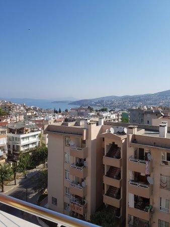 Golden Moon Apart Hotel: Foto vanaf het balkon van je kamer