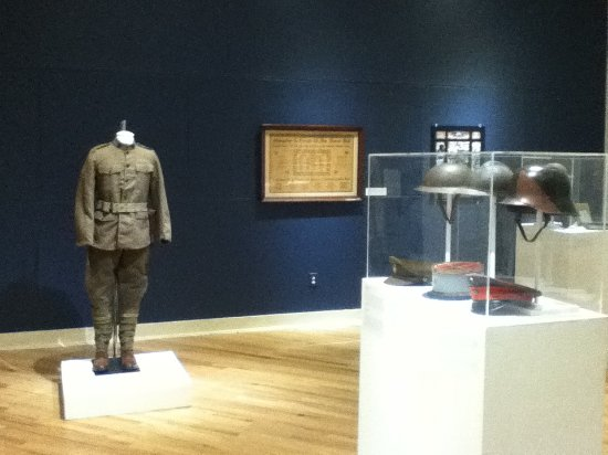 William King Museum of Art : A room where soildier outfits and gear that was used in recent combat missions.