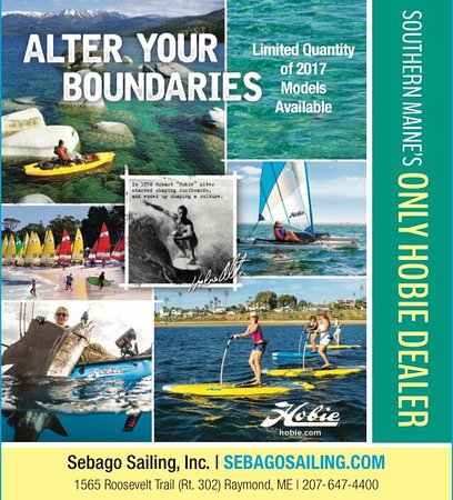 Naples, ME: Only Hobie dealer in Southern Maine and only sailing charters on Maine lakes. Hobie Kayaks and M