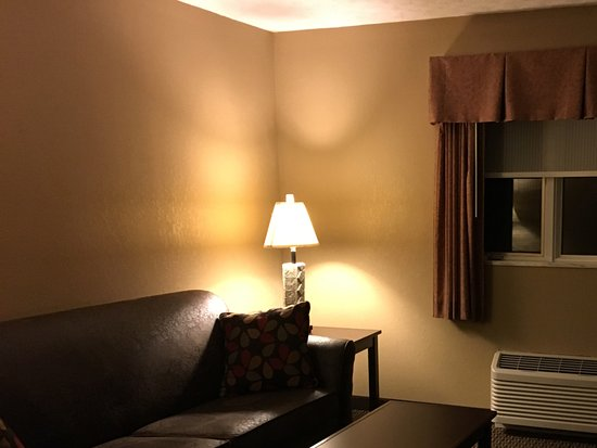 Burr Oak Lodge and Conference Center : Living/tv room in our suite
