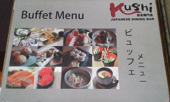 Kushi Japanese Dining Bar: menu