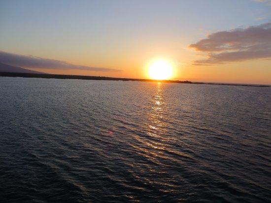Fernandina, Ecuador: sunset