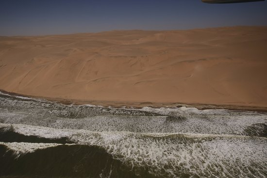 Swakopmund, Namibia: sand cliff over the ocean