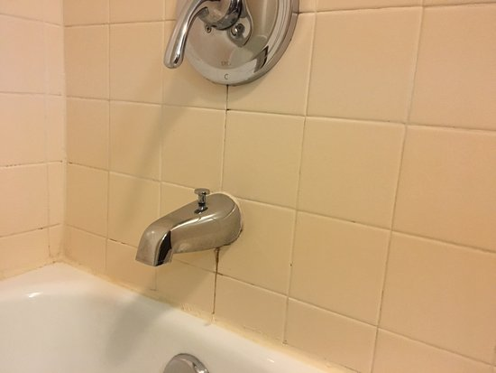 Janesville, WI: Mold/stains in the bathtub.