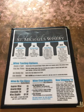 St. Michaels, MD: Tasting options