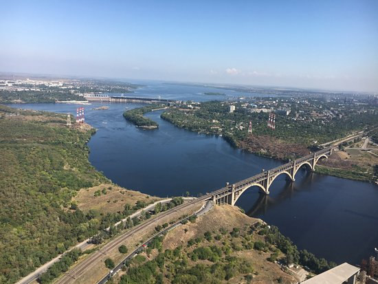 Zaporizhzhya, Ucrania: You can't beat the views from the air of this great city