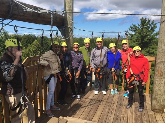 Lakeshore Adventures Zip Line: Our group before the first zipline