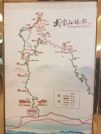 Danjiangkou, China: Sketch map of the Park.