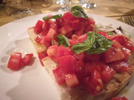 Ristorante Il Granaio: bruschetta con pomodori