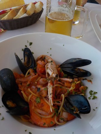 Re Ferdinando: Spaghetti aux fruits de mer