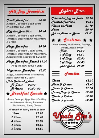 Leigh, UK : Menu