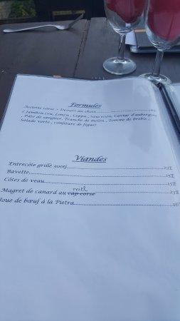 Restaurant A Merendella: la carte d'Aout 2017