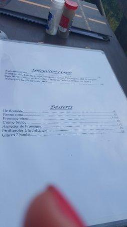 Restaurant A Merendella: la carte d'Aout
