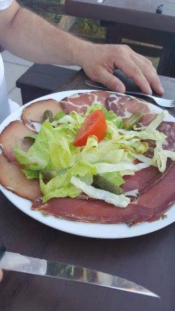 Restaurant A Merendella: Assiette de charcuterie