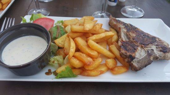 Restaurant A Merendella: Cote de veau sauce gorgonzola
