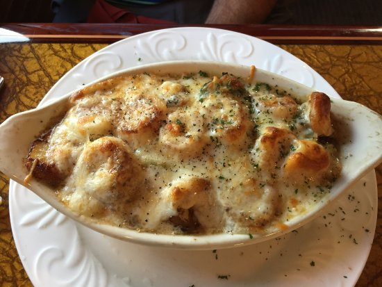 Mountain City, TN: Seafood pasta bake (shrimp and scallops over fettuccine)