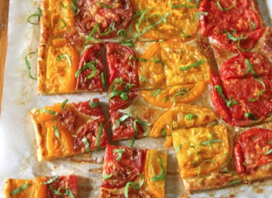 Montpellier, VT: Fresh tomatoes + fresh goat cheese + flaky crust