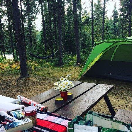 Snow Lake, Canadá: Campsite