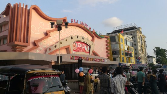 Raj Mandir Cinema: Fachada principal