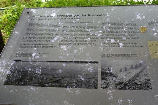 Roseninsel: Targa con illustrazioni sul luogo Unesco