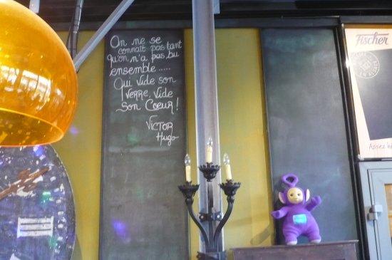 Une Citation De Victor Hugo Picture Of Cafe Rapp Colmar