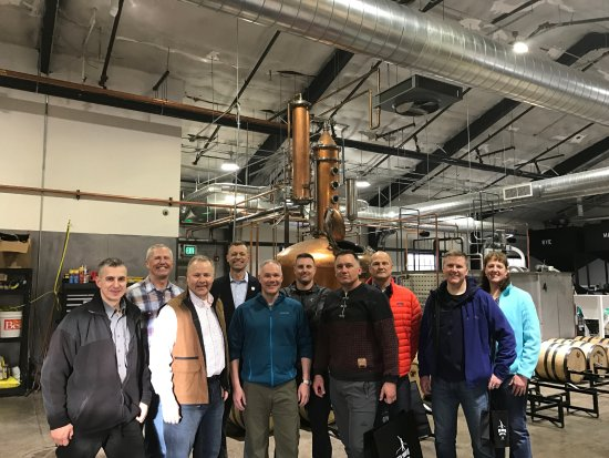 Gypsum, CO: Enjoying a tour of our Distillery!