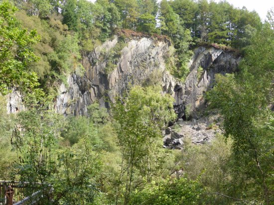 Machynlleth, UK: View over the old Quarry (Quarry Trail)