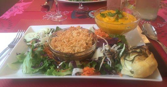 Bar-Restaurant Les Piétonnes: plat végétarien