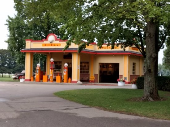 Hickory Corners, MI: This is a photo of the period Shell Oil station on the property
