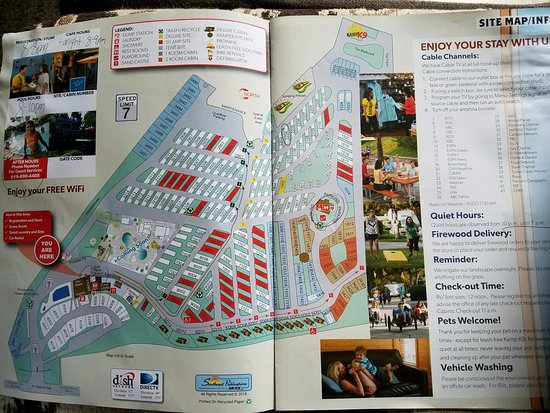 Campground Map - Picture of San go Metro KOA, Chula Vista ... on slc map, fll map, coarsegold california map, zip code map, route map,