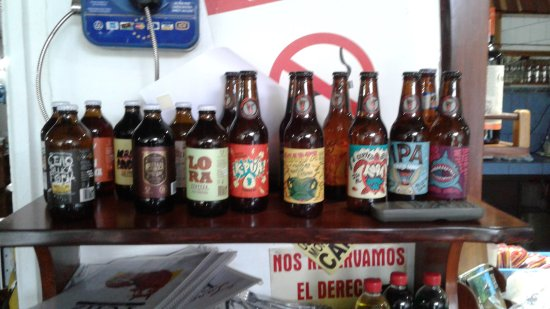 Playa Matapalo, Kosta Rika: Local beers