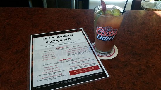 Ladysmith, WI: Bloody Mary at DJ'S American Pizza & Pub