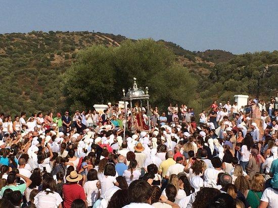 Lora del Río, España: Romería de Nuestra Señora de Setefilla Patrona de Lora del Rio, celebrada el 08 de Septiembre de