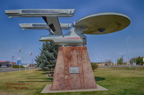 Vulcan, Kanada: Star Trek Enterprize, just around the corner from the visitor center