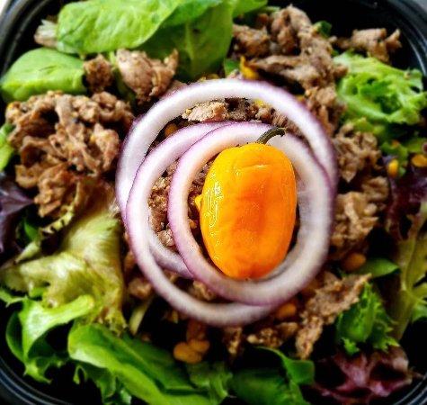 Hochatown, OK: Southwest Ribeye Salad with Jalapeño Ranch Dressing