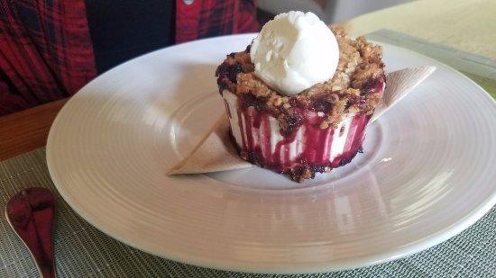Kingston, Nueva Jersey: blueberry crumble