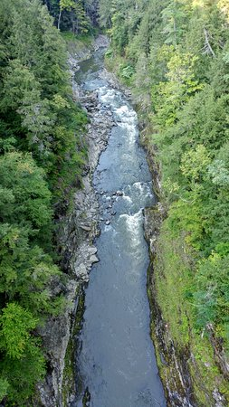 Quechee Gorge upstream view.