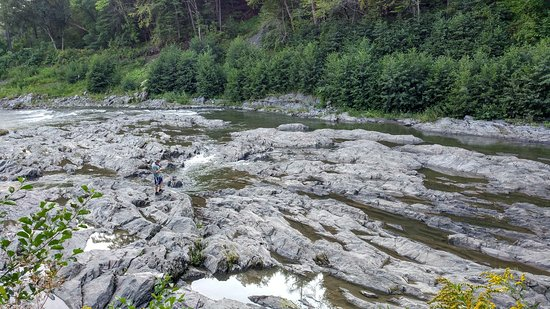 Ottauquechee River in the gorge bottom
