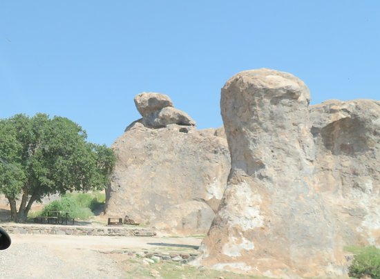 City of Rocks State Park: Wind, rain, and sand have smoothed these monoliths