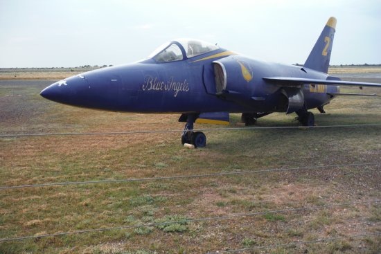 Williams, AZ: One of the Blue Angles retired planes. You can walk right up to it.