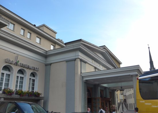 クルム ホテル サンモリッツ, ホテルの正面玄関