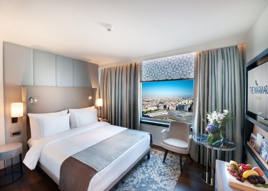 Corner City View Room at The Marmara Taksim