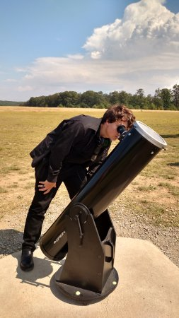 Coudersport, Pensilvania: One of the larger telescopes available for the solar eclipse program at Cherry Springs State Par