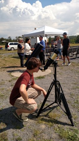 Coudersport, PA: One of the smaller telescopes available for solar eclipse program at Cherry Springs State Park.