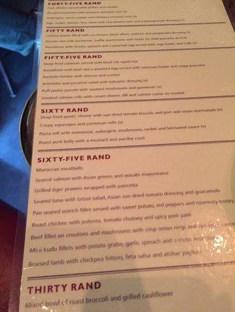 Fork Restaurant: menu