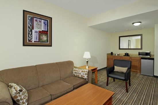Austinburg, OH: Suite Kitchen and Living Area