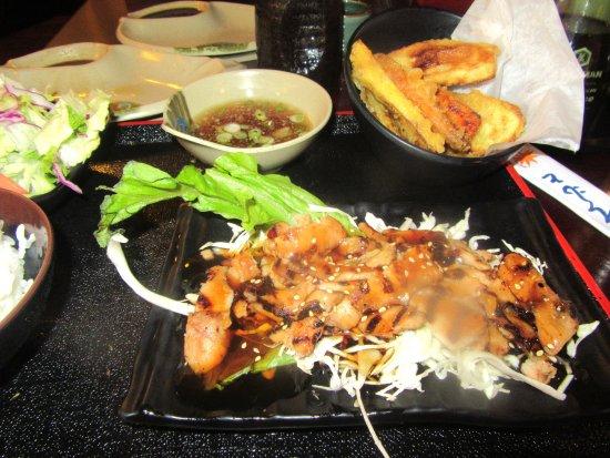 Chicken Teriyaki with Vegetable Tempura, Uotomo Sushi, Milpitas, Ca